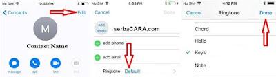 Cara Merubah Nada Dering Unik Untuk Kontak Tertentu di iPhone