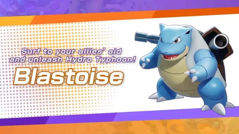 Pokémon Unite - Lançamento de Blastoise