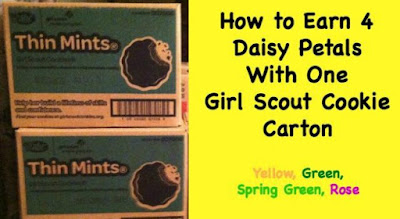 How to Earn Four Daisy Petals With One Girl Scout Cookie Carton