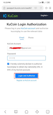 cara mendaftar pada KuCoin
