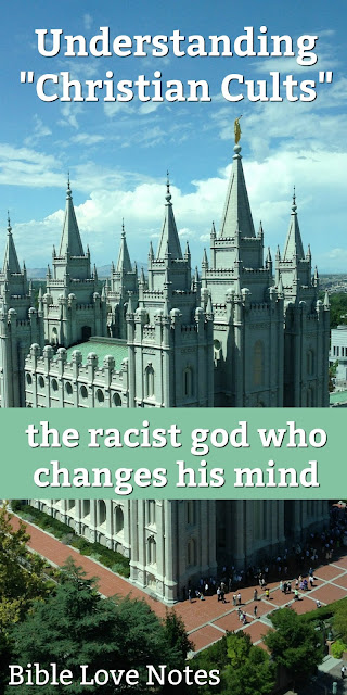 One of the largest churches in the world has a god who changes his mind about church doctrine. Let's pray for those deceived by this cult. #BibleLoveNotes #Bible #Mormonism #LDS