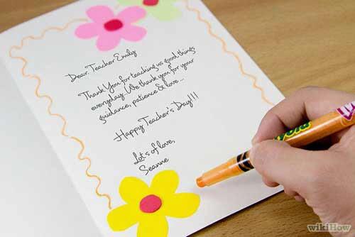 El Yapımı Öğretmenler Günü Tebrik Kartı Adım 5