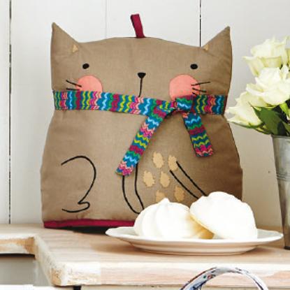Cat-shaped tea cosy