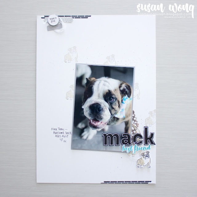 Sitting Pretty with Lined Alphabet by Stampin' Up! - Memory Page - Stamping Susan Wong