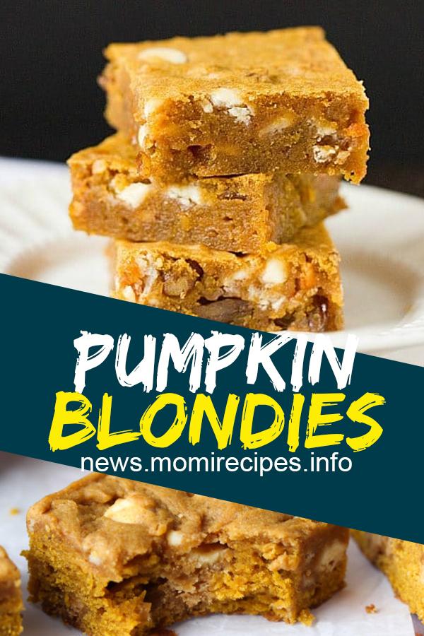 Pumpkin blondies   Cookie Recipes Chocolate Chip, Cookie Recipes Easy, Cookie Recipes Christmas, Cookie Recipes Keto, Cookie Recipes From Scratch, Cookie Recipes Sugar, Cookie Recipes Peanut Butter, Cookie Recipes Best, Cookie Recipes Unique, Cookie Recipes Snickerdoodle, Cookie Recipes Oatmeal, Cookie Recipes Healthy. #pumpkin #blondies #cookie