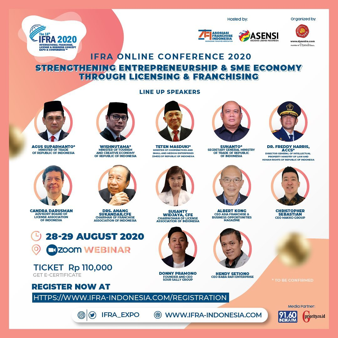 IFRA Online Conference 2020 Event Seputar Industri Franchise, Licensing & SME