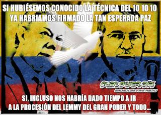 SANTOS TIMOCHENKO PAZ COLOMBIA LEMY 10 10 10 CUALQUIER DIA