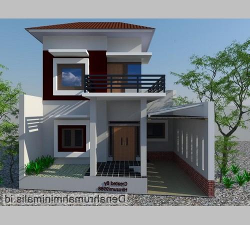 desain atap rumah 2 lantai datar sederhana modern terbaru 2017