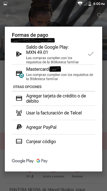 proceso de compra con saldo de google play