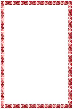 雷紋のフレーム素材(四角・縦)