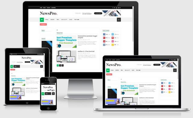 newspro responsive magazine blogger template