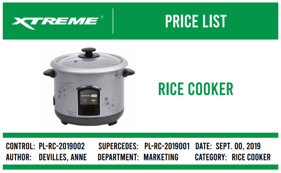 Xtreme Rice Cooker
