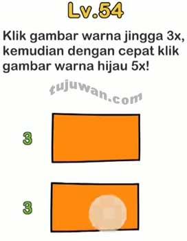 Klik Gambar Warna Jingga 3x Kemudian Dengan Cepat Klik Gambar Warna Hijau 5x Level 54