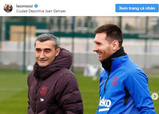 HLV Valverde bị sa thải, Leo Messi nói gì?