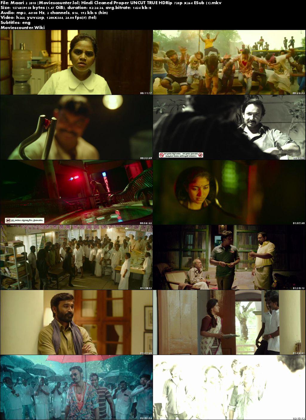 Poster Maari 2 2018 Hindi Dubbed HD 720p