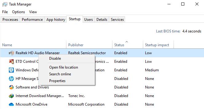 Cara Mengatasi Disk Usage 100% di Windows 10 - Optimasi Startup