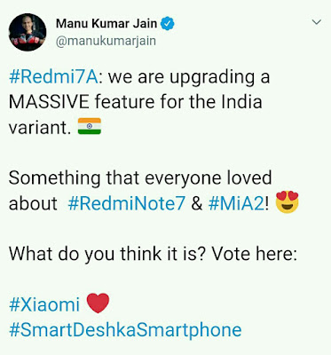 Xiaomi's Redmi 7A to launch in India on 4th July.