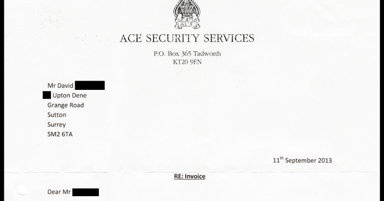 Upton Dene Residents Ltd; a shareholder's view: Letter
