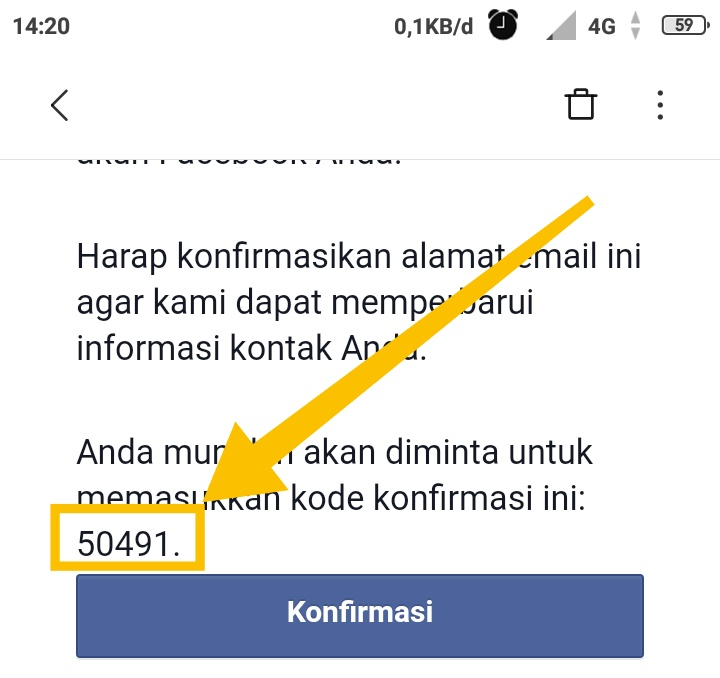 Kode facebook