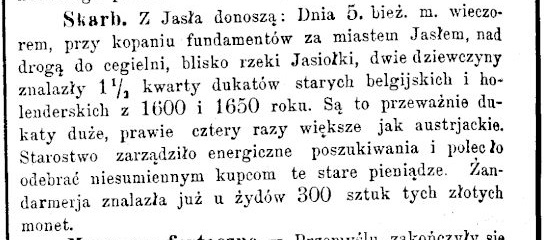 Jasło skarb 1892