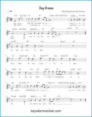 day dream chords jazz standar