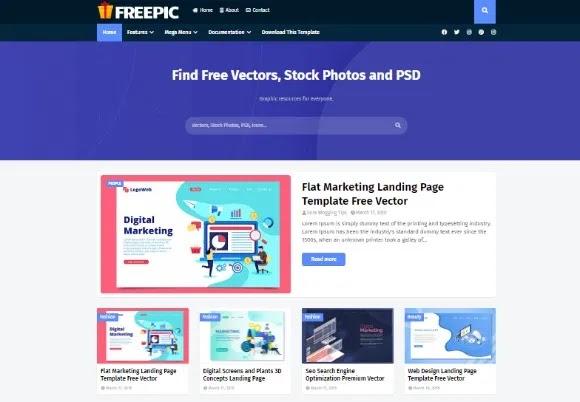 Freepic Blogger Premium Template