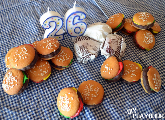 Birthday Hamburger Cookies
