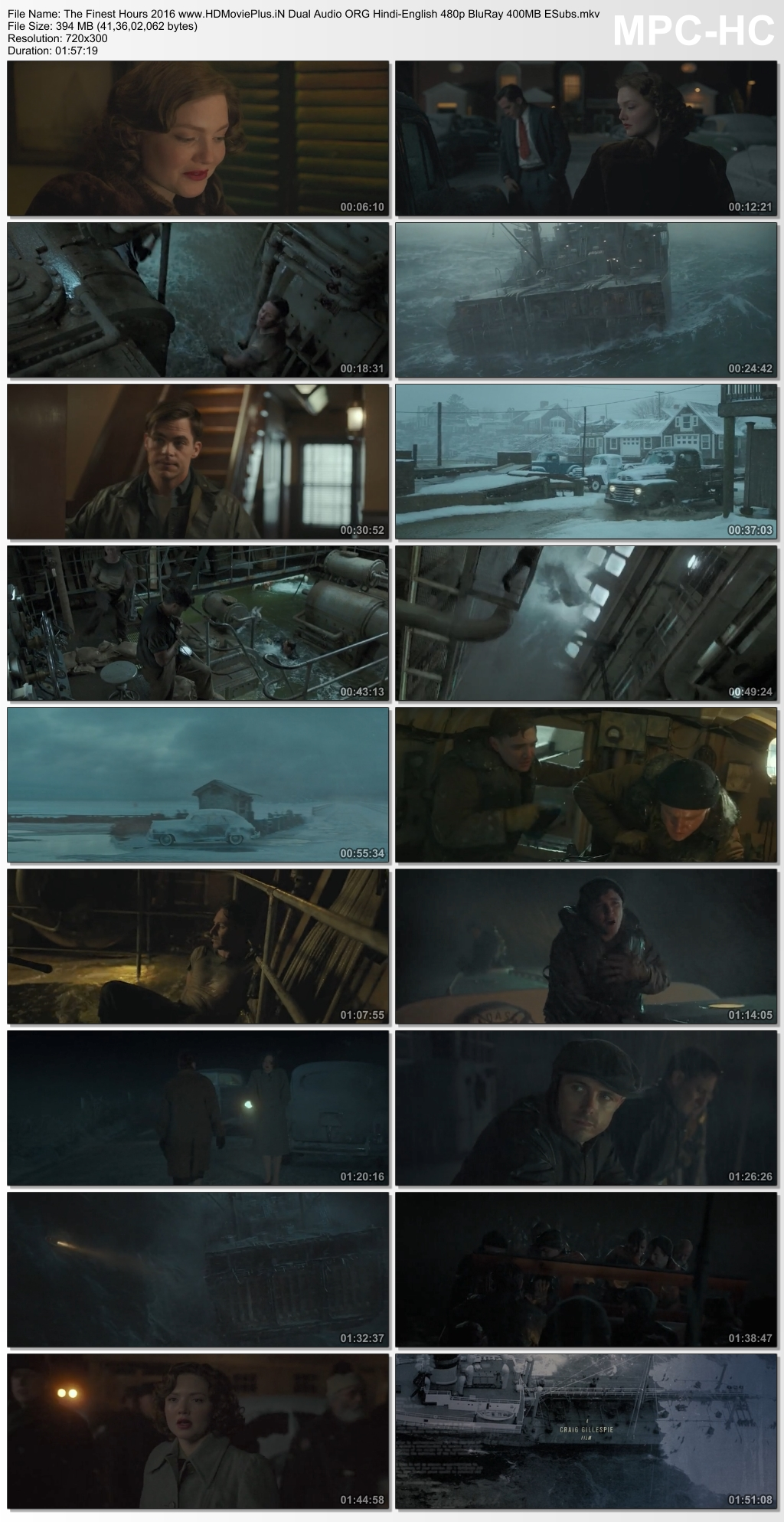 The Finest Hours 2016 Dual Audio