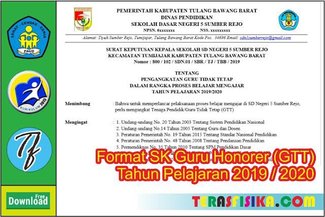Format SK Guru Honorer (GTT