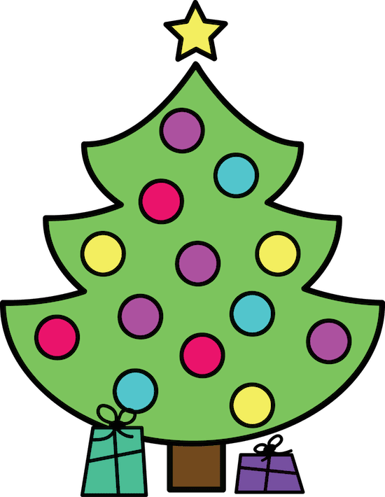 Christmas tree clipart FREEBIE by GradeONEderful.com