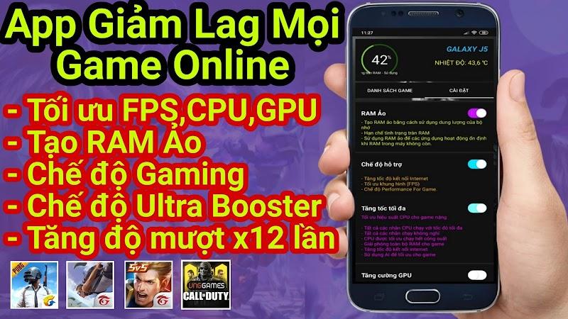 CHƠI GAME ONLINE KHÔNG GIẬT LAG với Ứng dụng Tối ưu CPU,GPU,FPS Tăng độ mượt Điện Thoại lên x12 lần