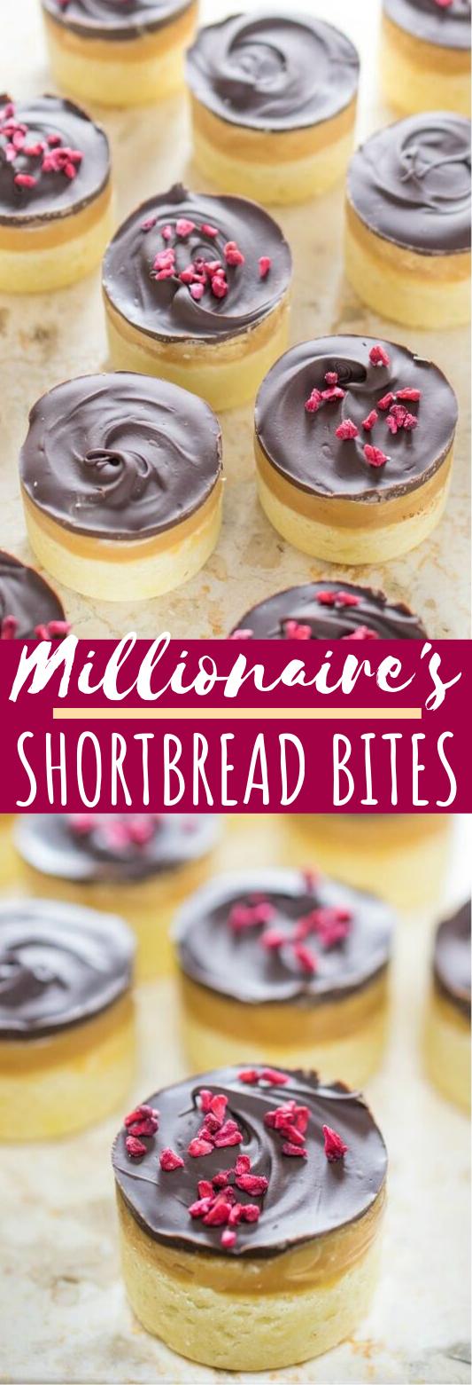 Millionaire's Shortbread Bites #desserts #cake