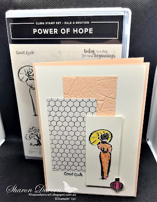 Power of Hope, Stone 3D embossing folder, Good Luck, Saleabration 2020, Stampin' Blends, Stampin' Up, Rhapsody in craft, Art with heart
