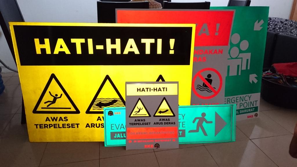 Safety Sign Signage Rambu Rambu K3 Kota Padang A3 Printing Advertising Digital Printing Offset Kota Padang