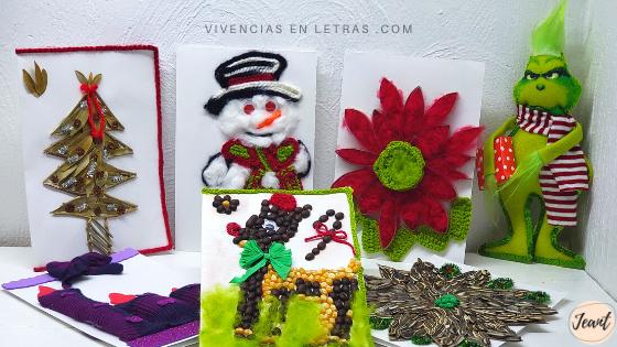 tarjetas navidad hechas con reciclaje