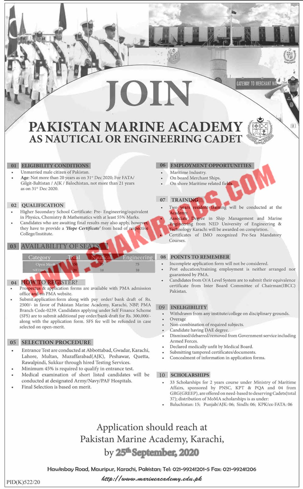 Jobs in Pakistan Marine Academy Jobs September 2020 (2350 Posts)