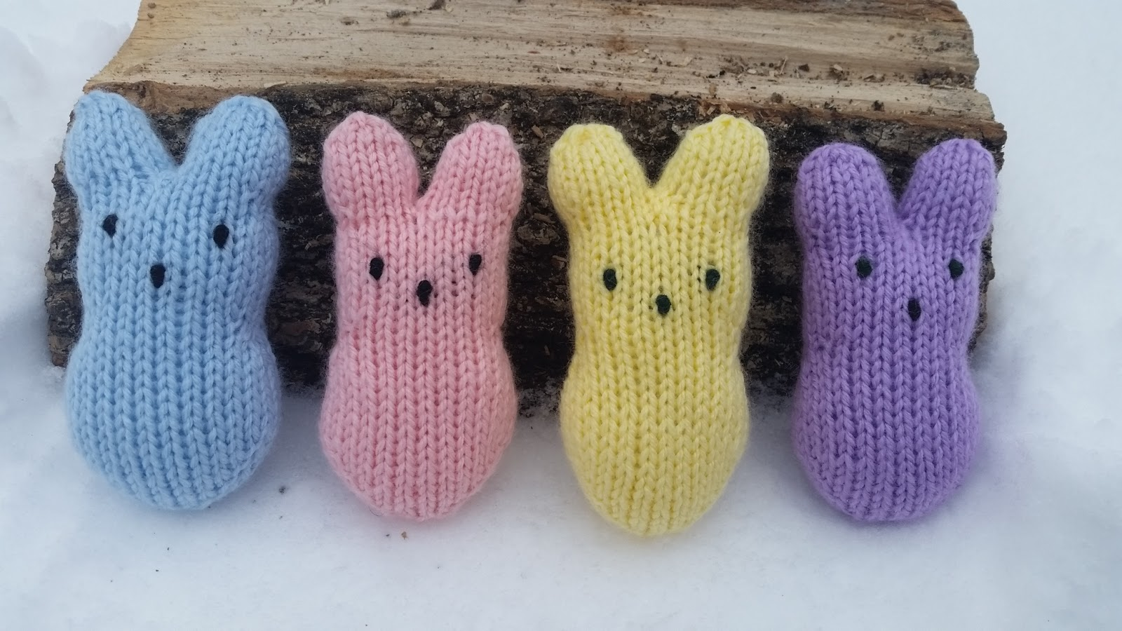 Knit peeps bunnies free pattern knit peeps bunny by ruth windover bankloansurffo Choice Image