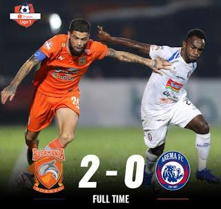 Hasil Liga 1 2019: Borneo Kalahkan Arema FC 2-0