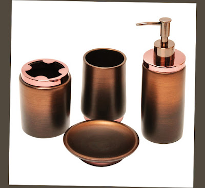 Best oil rubbed bronze bathroom accessories ellecrafts for Gold glass bathroom accessories