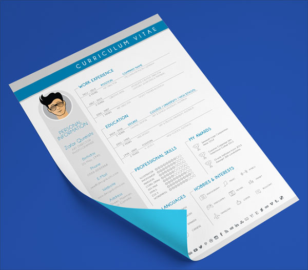 Free Modern CV Resume Design Template