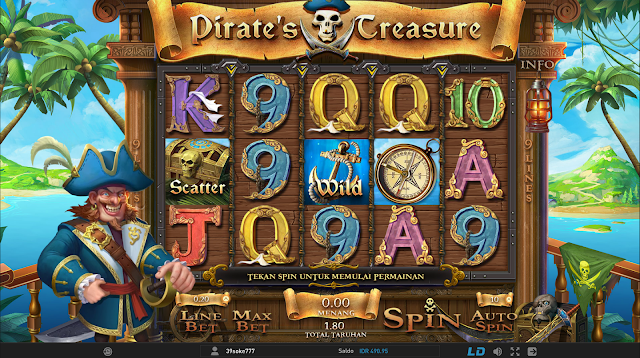OKE77.COM AGEN SLOT GAMES PIRATE's TREASURE W88 SLOTS