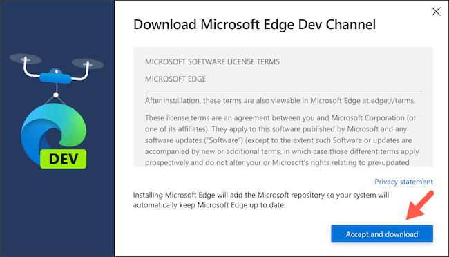 قم بتنزيل عميل Linux Microsoft Edge على Chromebook