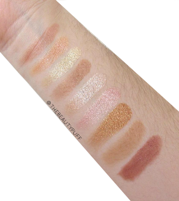 makeup revolution rose gold swatches - the beauty puff