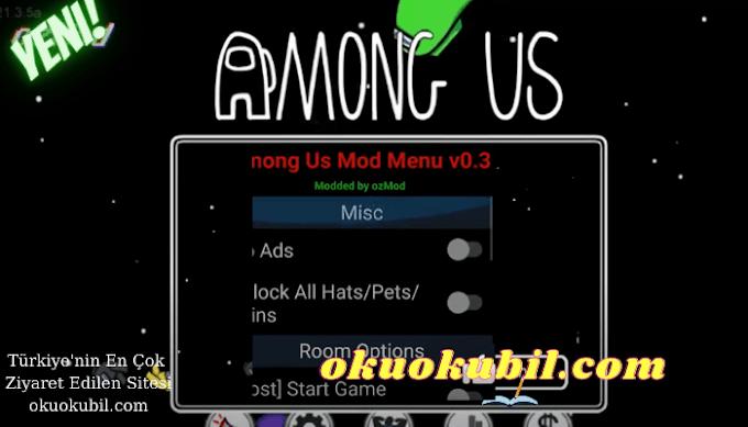 Among Us v2021.3.9 Mod Menü Full Impostor Güncellendi Özel Mod