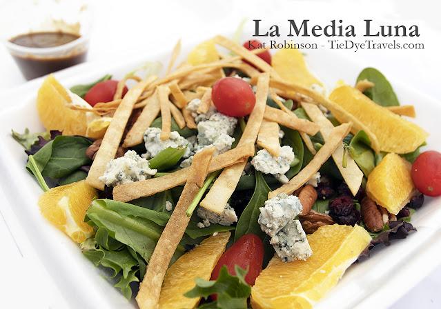 La Media Luna salad at La Media Luna in Johnson, Arkansas