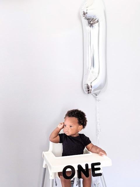 baby boy in high chair