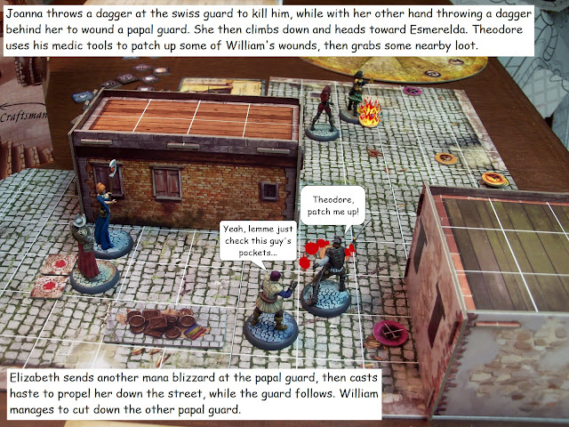 Nova Aetas board game painted play through mission 1.5 Witch Hunt