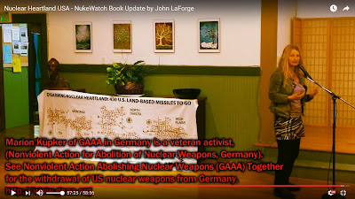 Marion Küpker, German Nuclear Abolitionist, in Berkeley CA with John LaForge (6 minutes)