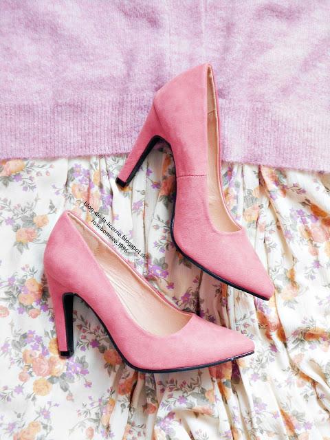 Ružové lodičky na vysokom podpätku Bonprix Blog de la Licorne