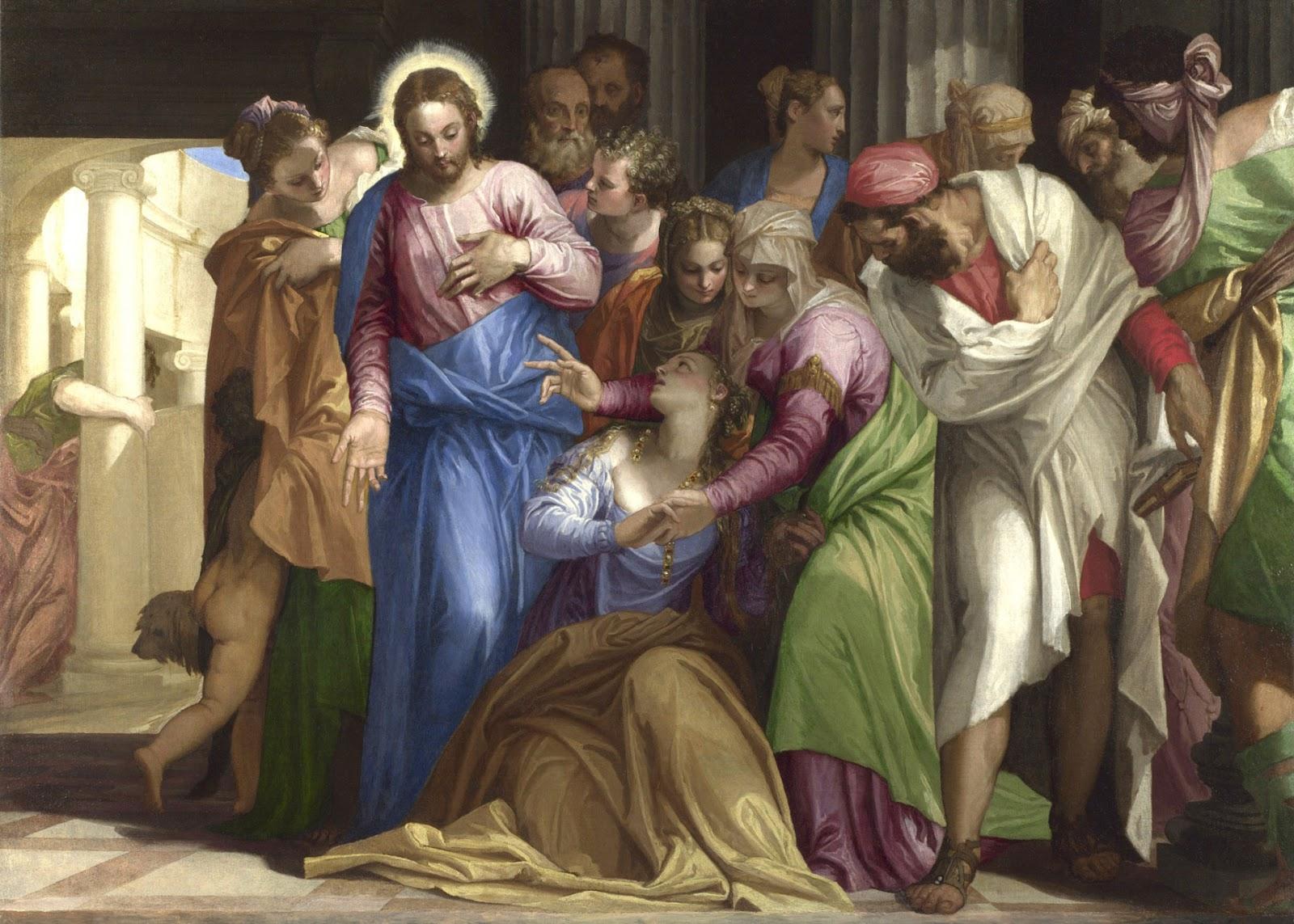 Resultado de imagem para JESUS E A HEMORROÍSSA